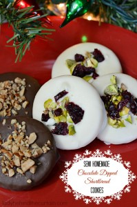 Semi Homemade Chocolate Dipped Shortbread Cookies - Lady Behind The Curtain