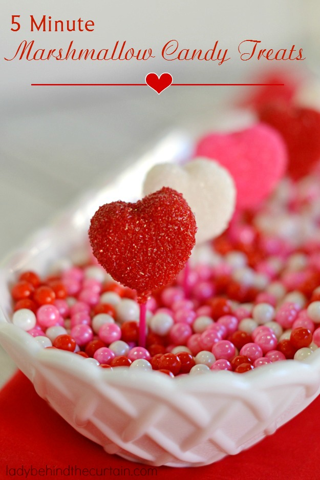 5 Minute Marshmallow Candy Treats - Lady Behind The Curtain