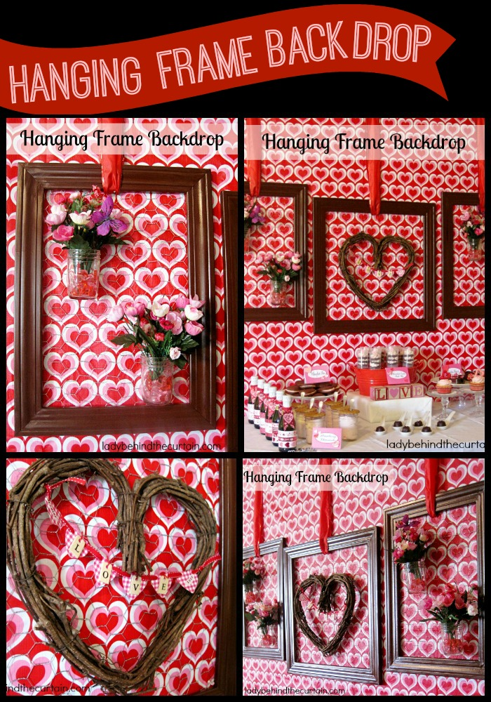 Hanging Frame Backdrop - Lady Behind The Curtain
