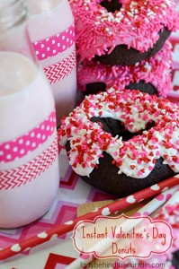 Instant Valentines Day Donuts - Lady Behind The Curtain