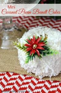 Mini Coconut Pecan Bundt Cakes - Lady Behind The Curtain