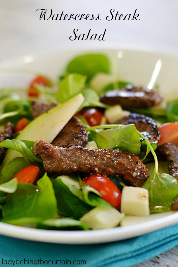Watercress Steak Salad - Lady Behind The Curtain