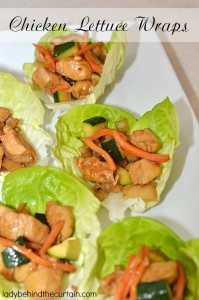 Chicken Lettuce Wraps - Lady Behind The Curtain