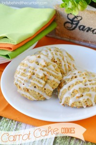 Carrot Cake Cookies - Lady Behind The Curtain