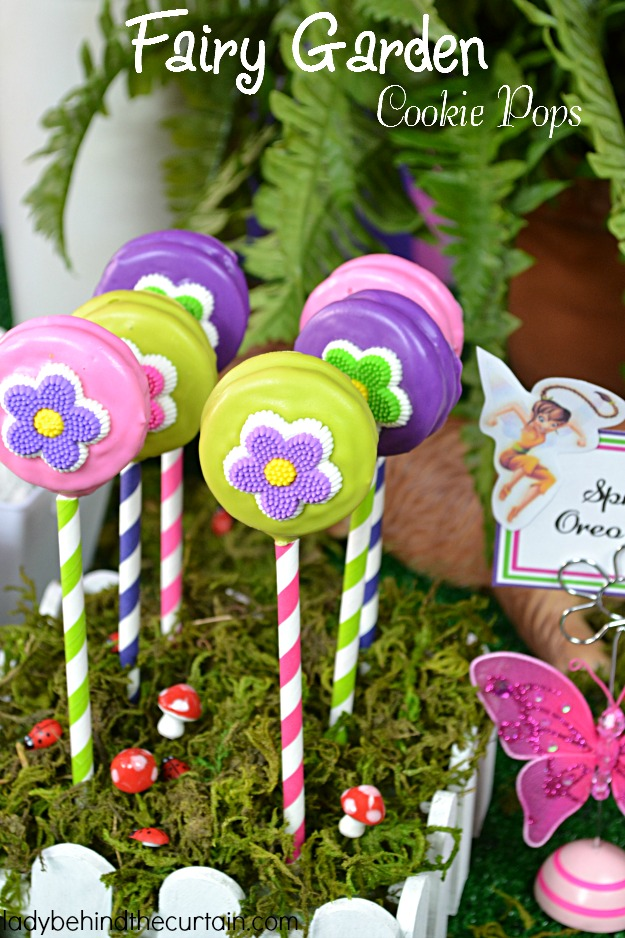 Fairy Garden Cookie Pops - Lady Behind The Curtain