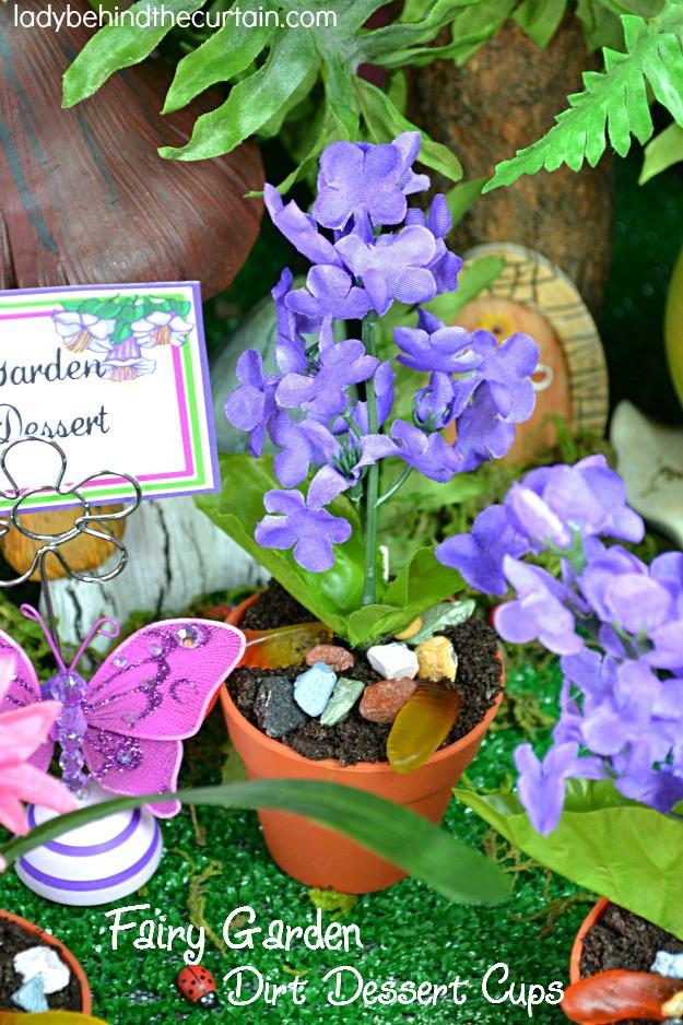 Fairy Garden Dirt Dessert Cups - Lady Behind The Curtain