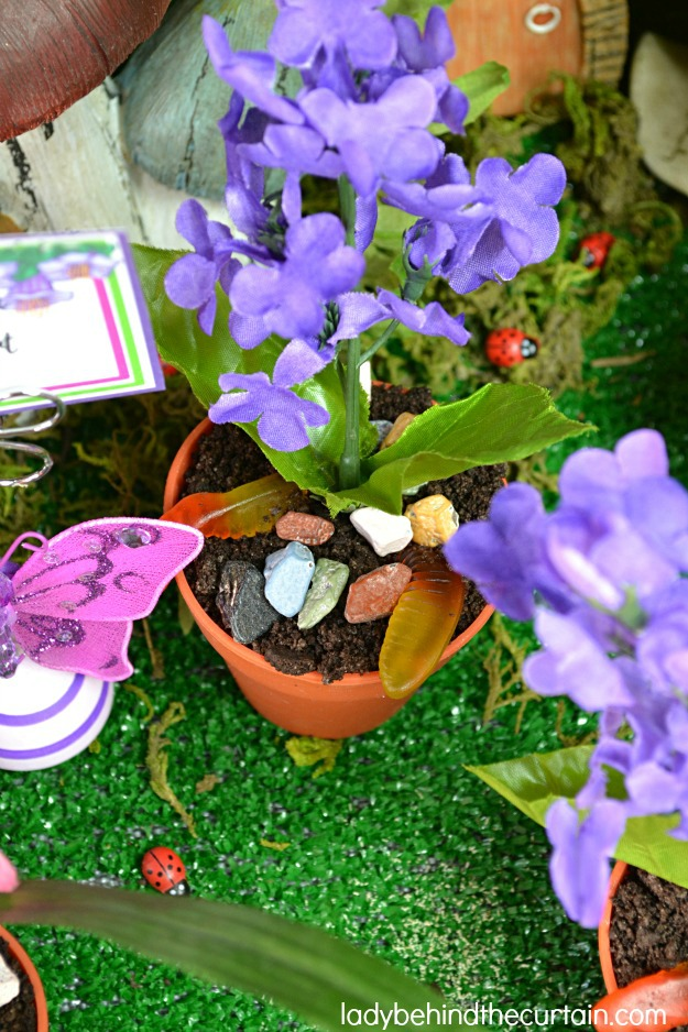 Fairy Garden Dirt Dessert Cups - Lady Behind The Curtain