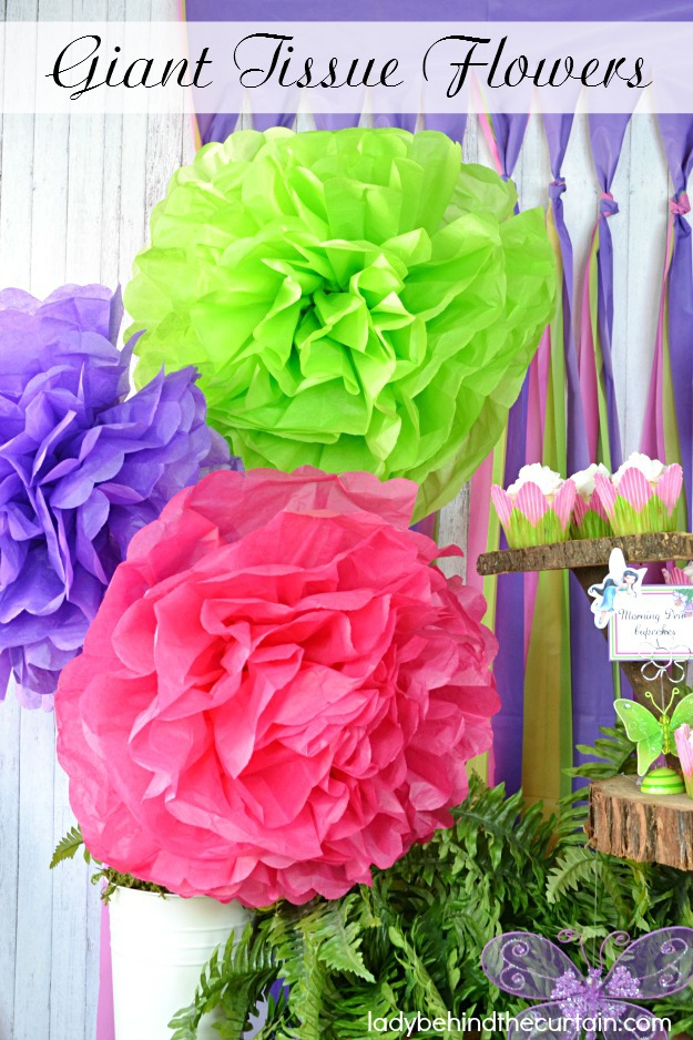 Giant Tissue Flowers - Lady Behind The Curtain