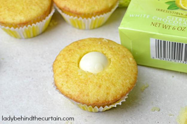 Lemon Truffle Cupcake Surprise - Lady Behind The Curtain