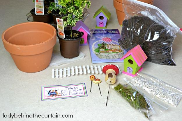 Living Fairy Garden Party Favor