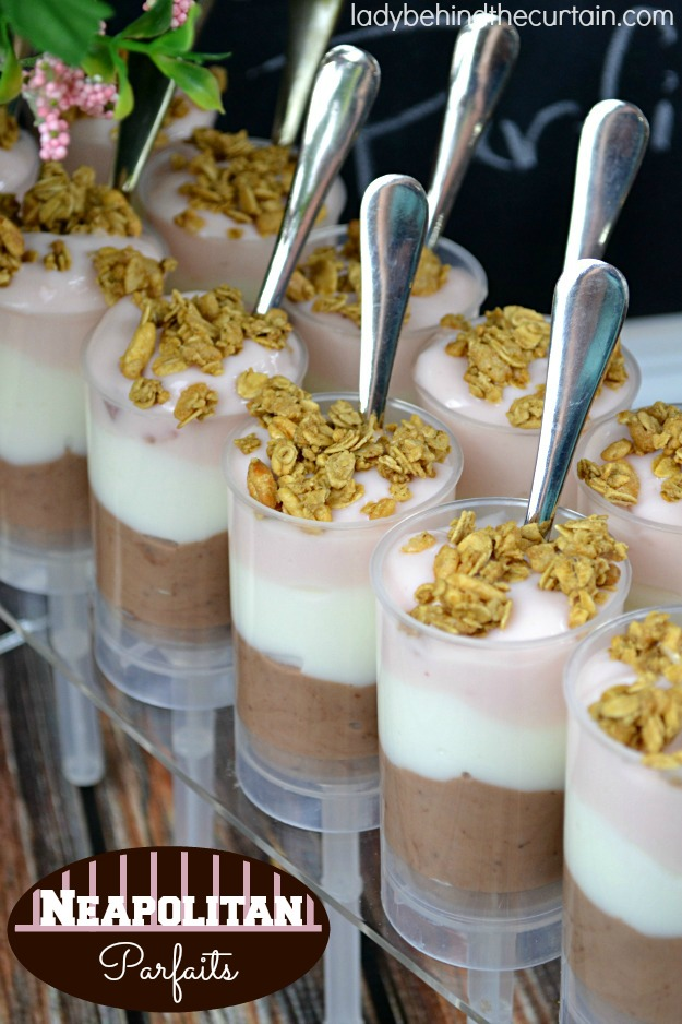 Neapolitan Parfaits - Lady Behind The Curtain