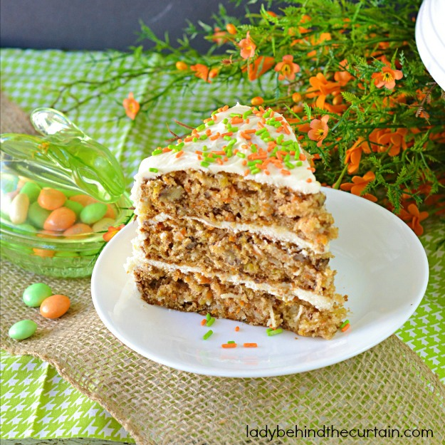 Super Moist Carrot Cake Recipe - Lady Behind The Curtain