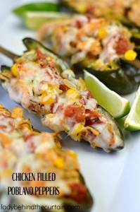 Mild peppers filled with creamy chicken and cheese. Perfect for a fiesta or Cinco de Mayo celebration!