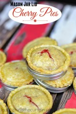 Mason Jar Lid Cherry Pies