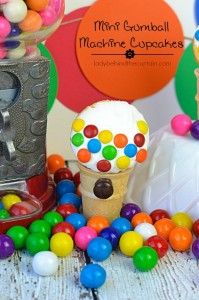 These full of fun cupcakes are easy to make with a store bought cake mix, mini ice cream cones, mini M&M's and candy melts.