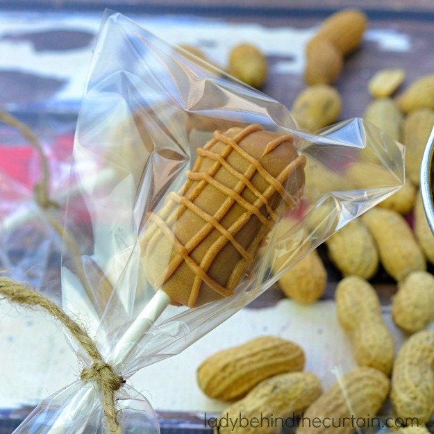 The no bake perfect dessert or party favor at a peanut themed baby shower.