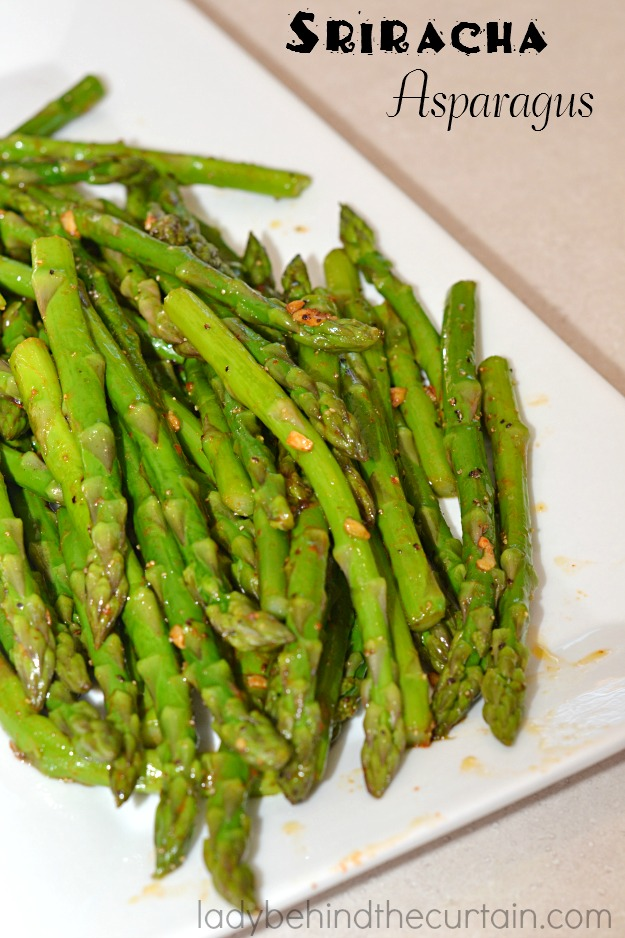 Fresh asparagus with a kick.