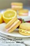 Strawberry Lemonade Cheesecake Sandwich Cookies