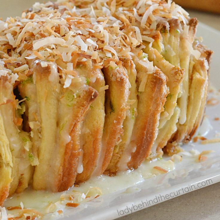Coconut Lime Pull Apart Bread