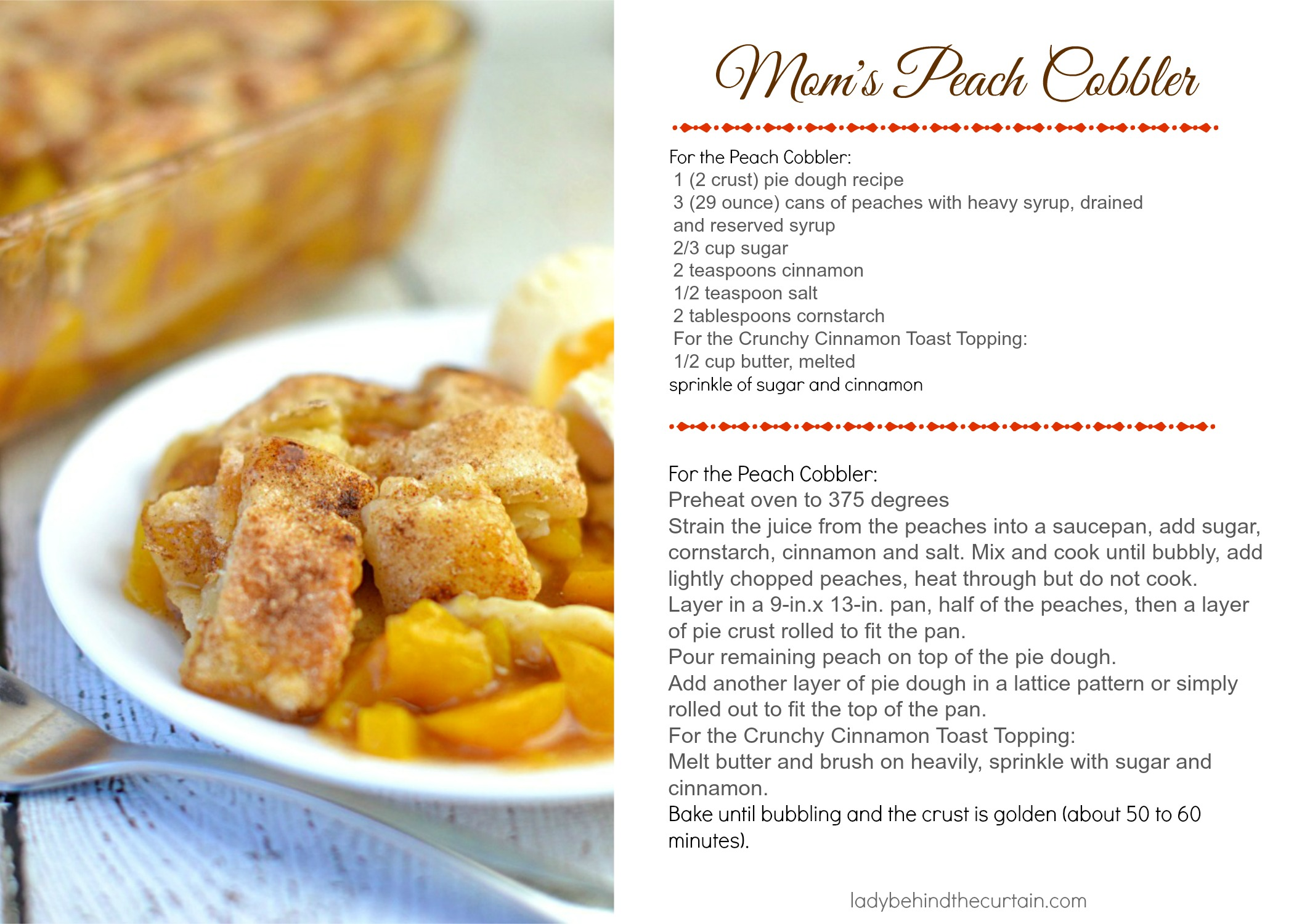 Mom S Peach Cobbler