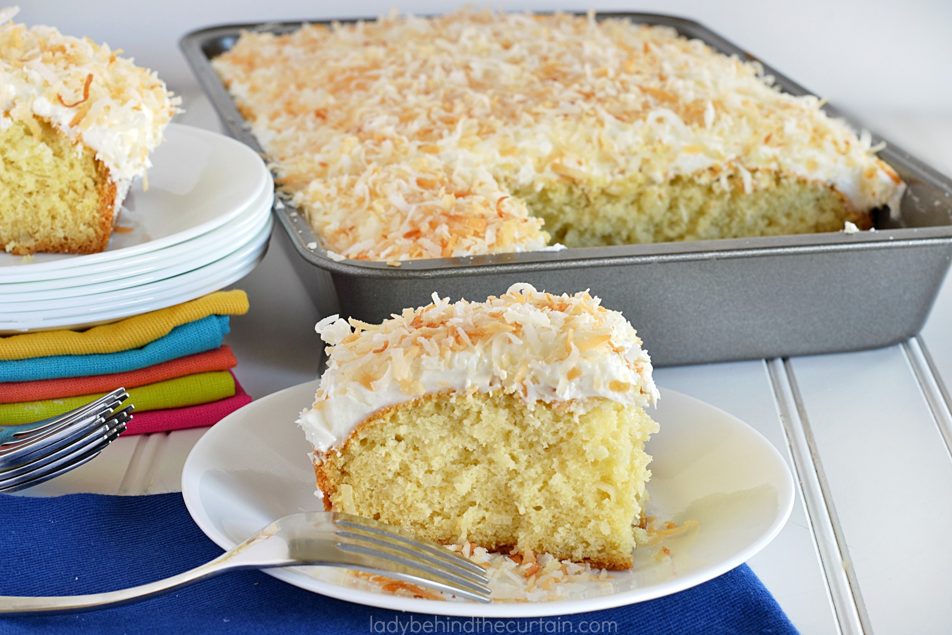 Old Fashioned Coconut Sheet Cake