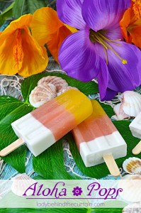 These Aloha Pops are made with healthy mango nectar, passion fruit juice and coconut milk. The perfect way to celebrate summer and the love of all things tropical!
