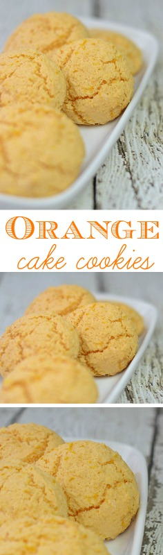 Orange Creamsicle Cake Mix Cookies