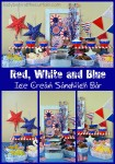 Red, White and Blue Ice Cream Sandwich Bar