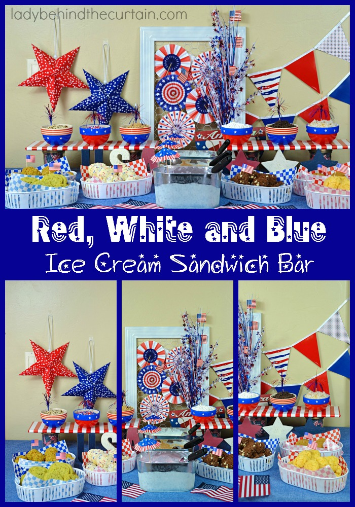 Get your creative juices flowing with this fun 4th of July dessert table.