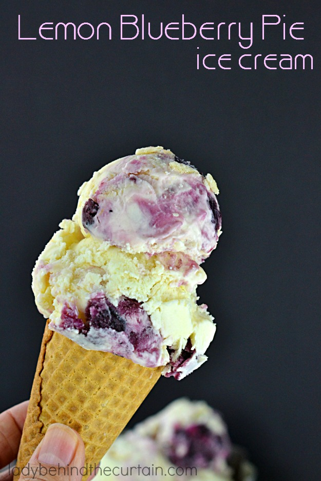 This Blueberry Lemon Pie Ice Cream has everything you love about pie ...