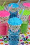 These Jello Snow Cone Cupcakes are just what my granddaughters ordered.