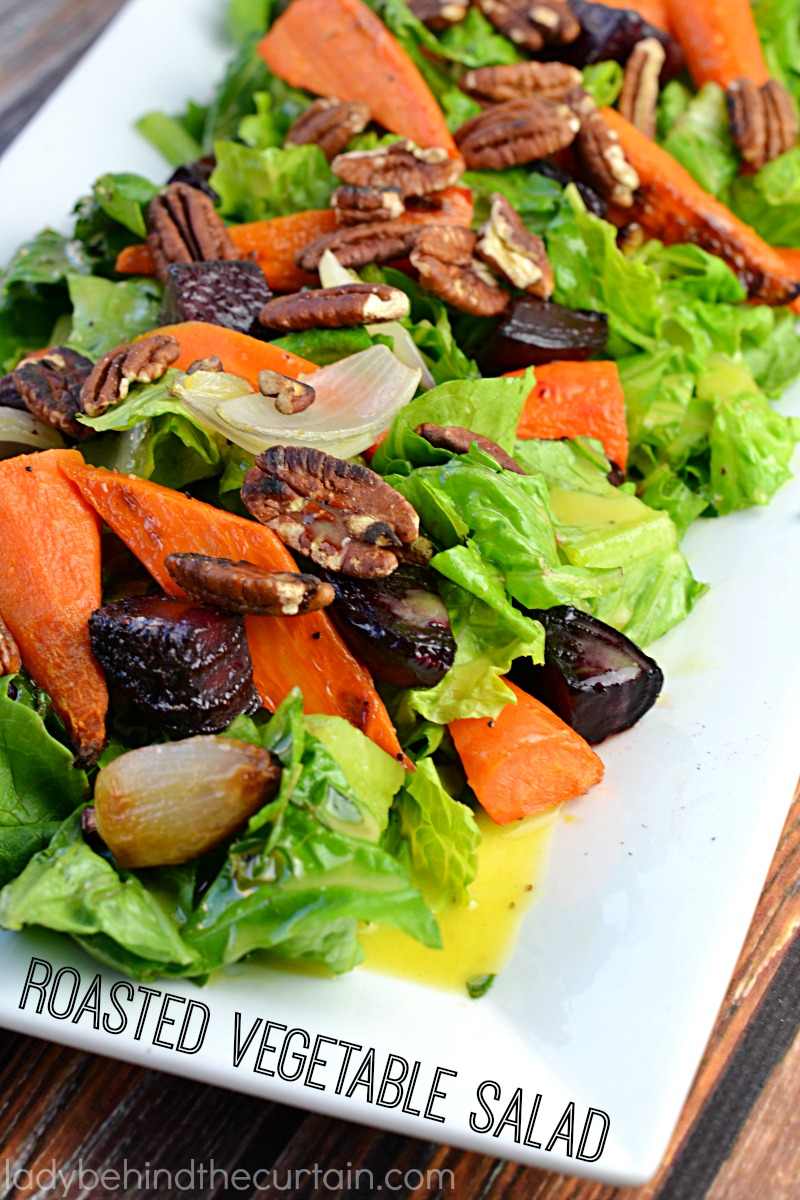 This farm fresh Roasted Vegetable Salad is the perfect summer salad.