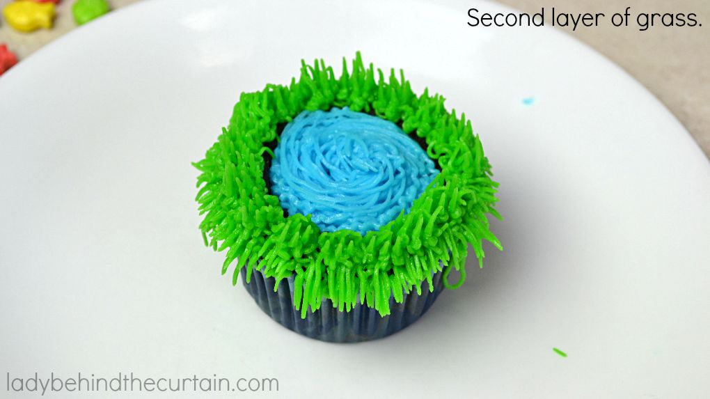 Secret Fishing Hole Devil's Food Cupcakes - Lady Behind The Curtain 10