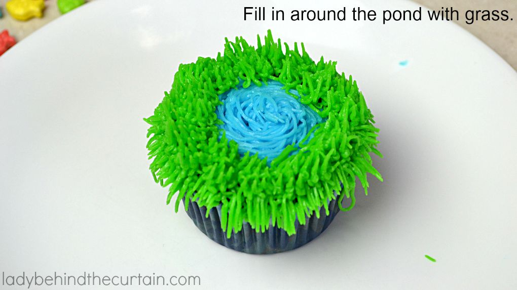 Secret Fishing Hole Devil's Food Cupcakes - Lady Behind The Curtain 11