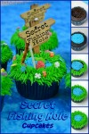 Secret Fishing Hole Devil's Food Cupcakes
