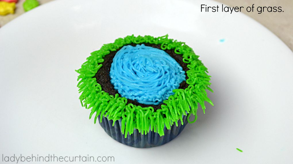 Secret Fishing Hole Devil's Food Cupcakes - Lady Behind The Curtain 9