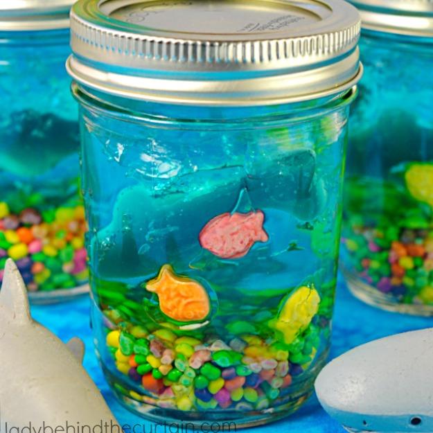 Celebrate Shark Week with this fun Shark Tank Jello!