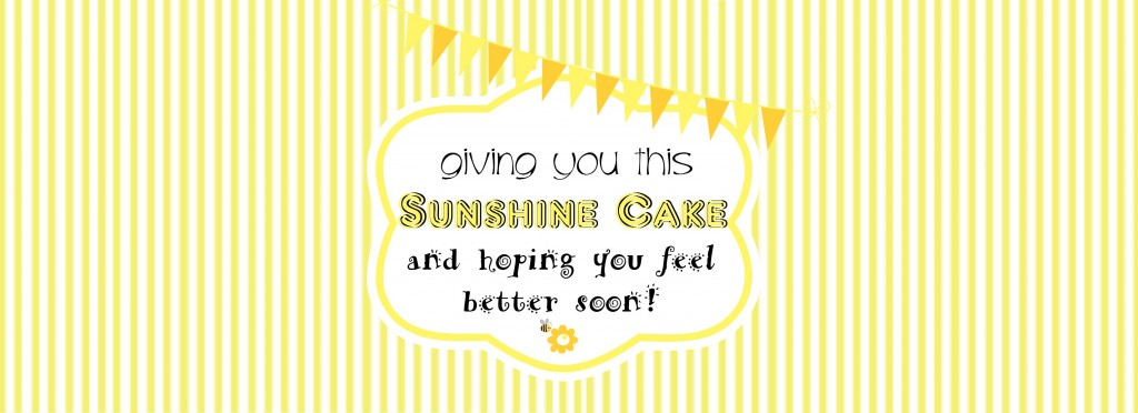 Sunshine Cake in a Can Label