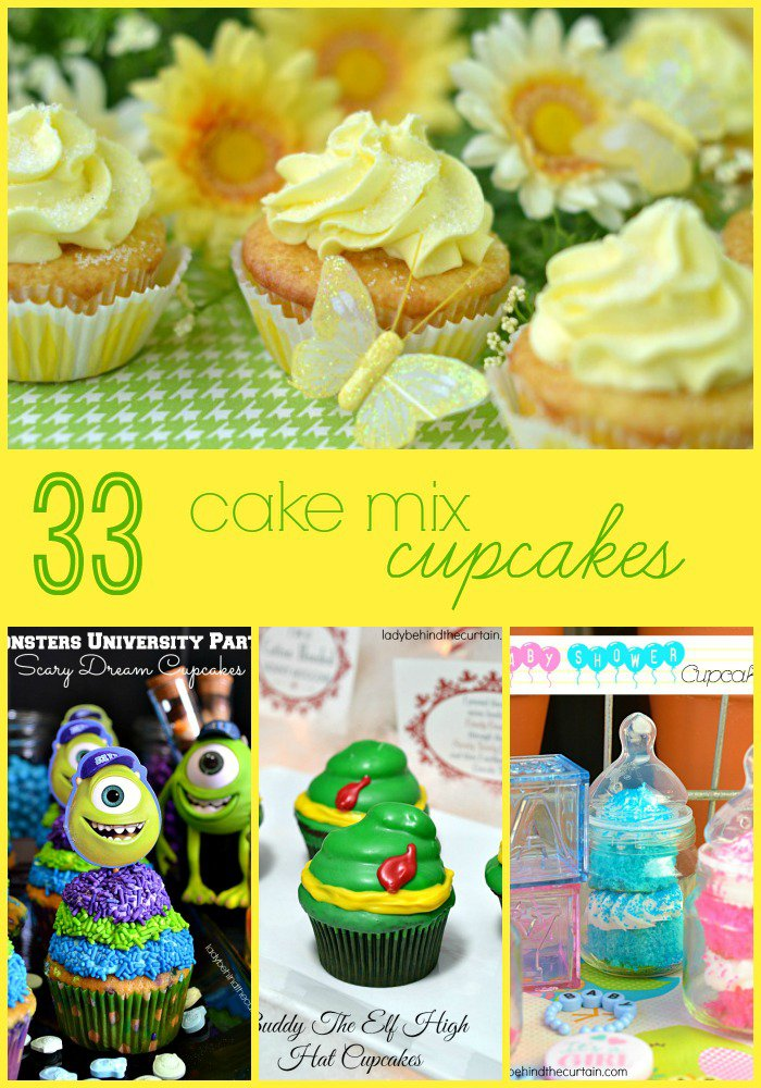 33 Spectacular Cupcakes Made with Cake Mixes: It's party time and the last thing you want to worry about is baking!