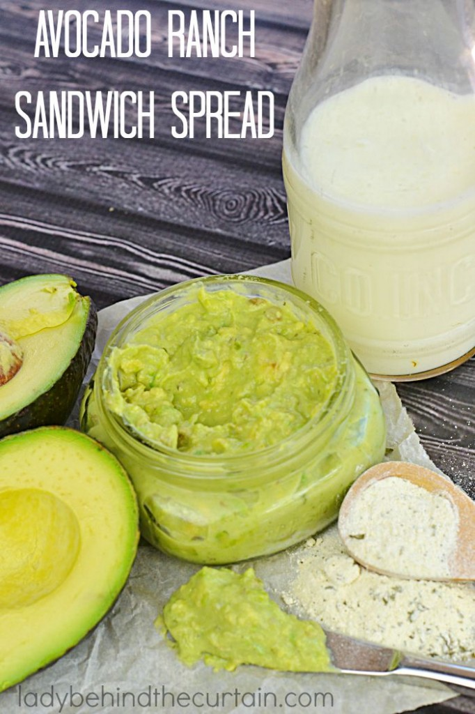 Avocado Ranch Sandwich Spread   A creamy spread made with avocados, buttermilk and ranch dressing mix.