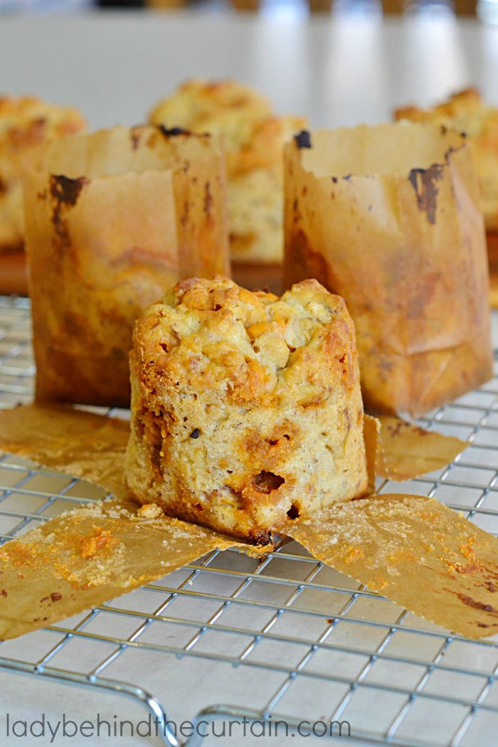 Butterscotch Scone Muffins | Turn your kitchen into a bakery with these fresh from the oven moist muffins.