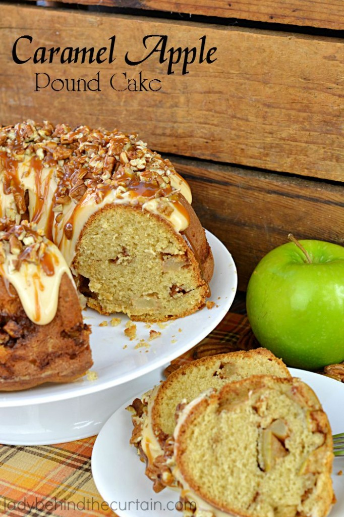 tender cake with TWO layers of of sweet brown sugar apples, topped ...