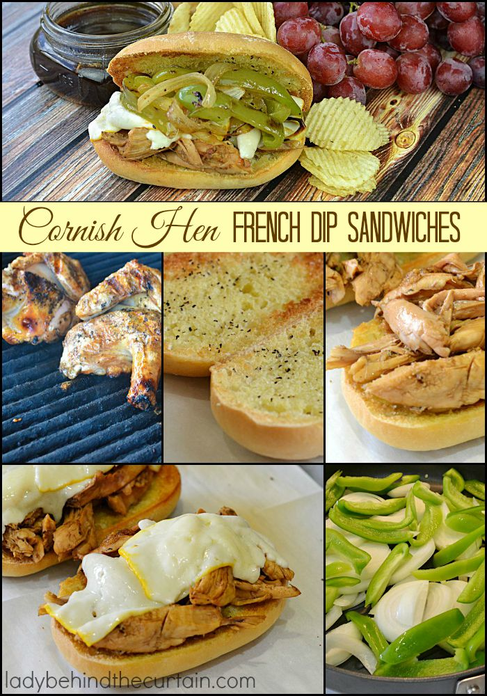 Cornish Hen French Dip Sandwiches | Re-create your favorite diner food with a twist!