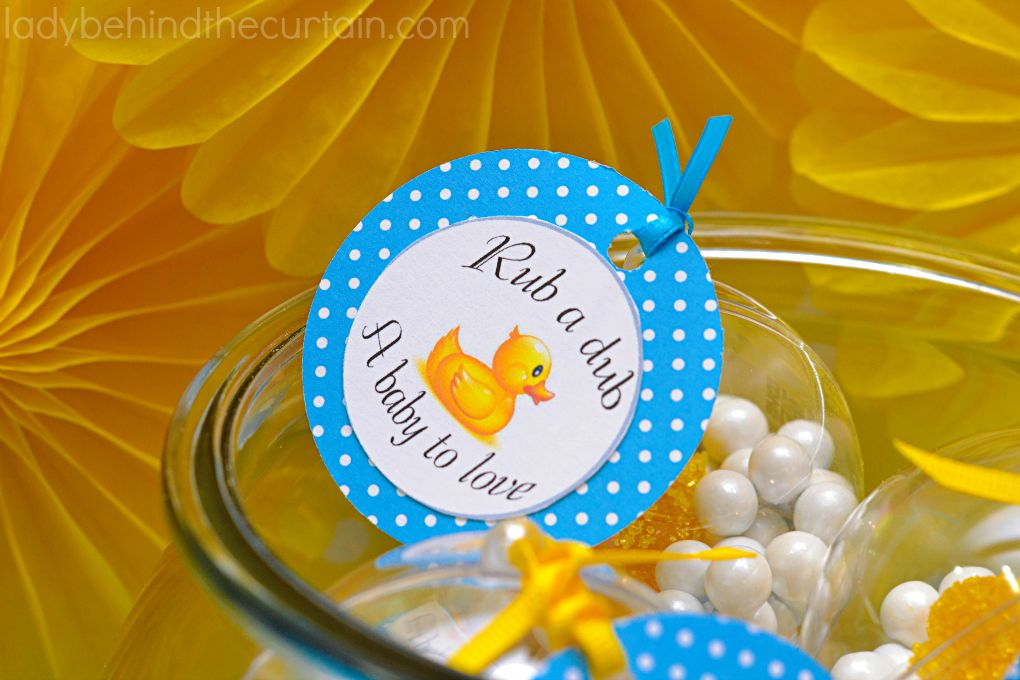 Rub a Dub Dub Baby Shower Centerpiece and Party Favor  2