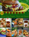 19 Game Day Burgers, Buns and Sauces | A collection of must have recipes to create the perfect burger for tailgating or game day eats.