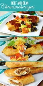 Beef and Bean Chimichangas | A weeknight family favorite with a delicious filling that everyone loves.