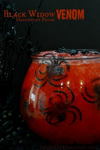 Black Widow Venom Halloween Punch | A wickedly delicious punch for kids! Everyone loves a good punch!