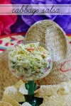 Cabbage Salsa | One of a kind salsa made with angel hair shredded cabbage, green chiles and more.