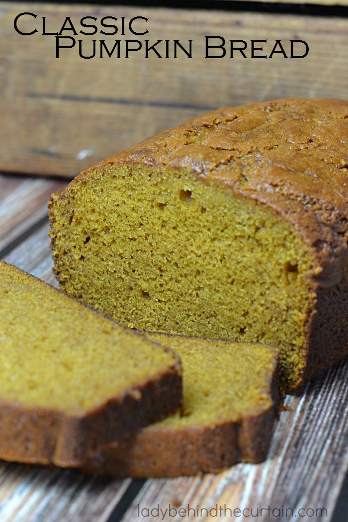 Classic Pumpkin Bread | A moist easy quick bread perfect as a hostess gift, to give to a co worker or teacher.