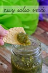 Easy Salsa Verde | This easy to make salsa has a completely different flavor to it's red salsa cousin.